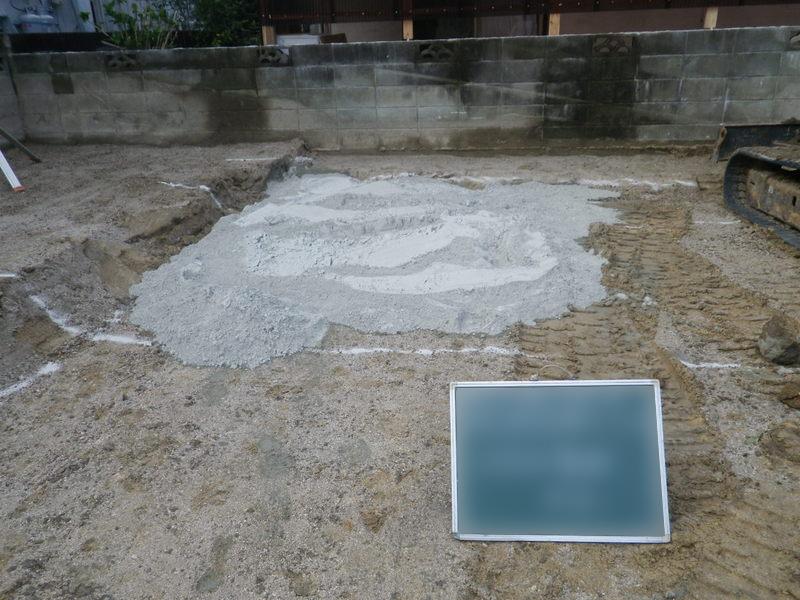 固化材散布
